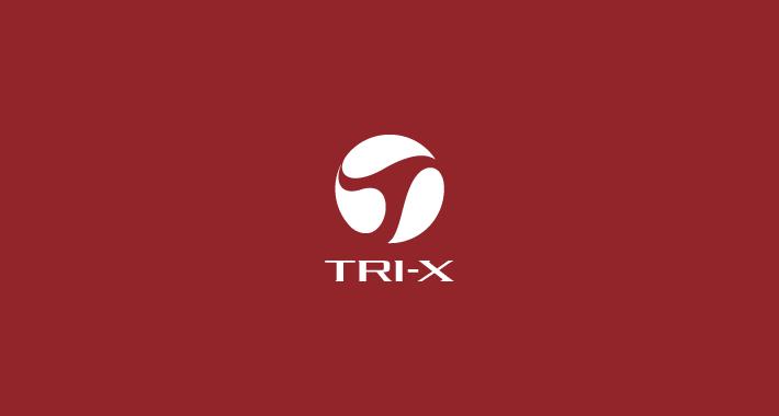 ウエブサービスのスタイリッシュなロゴデザイン TRI-X