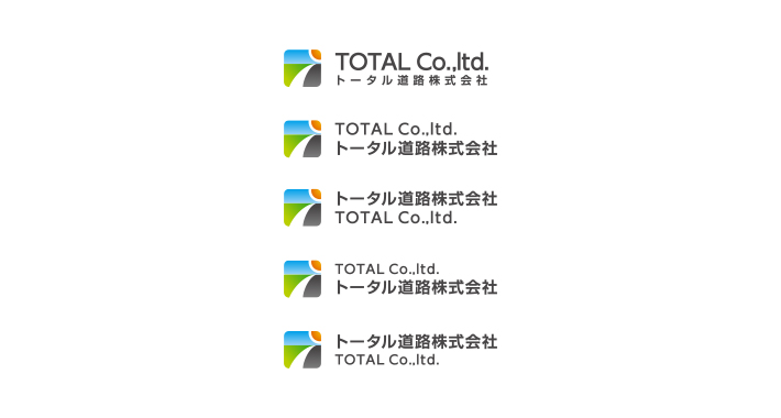 道路工事会社のロゴマークデザイン